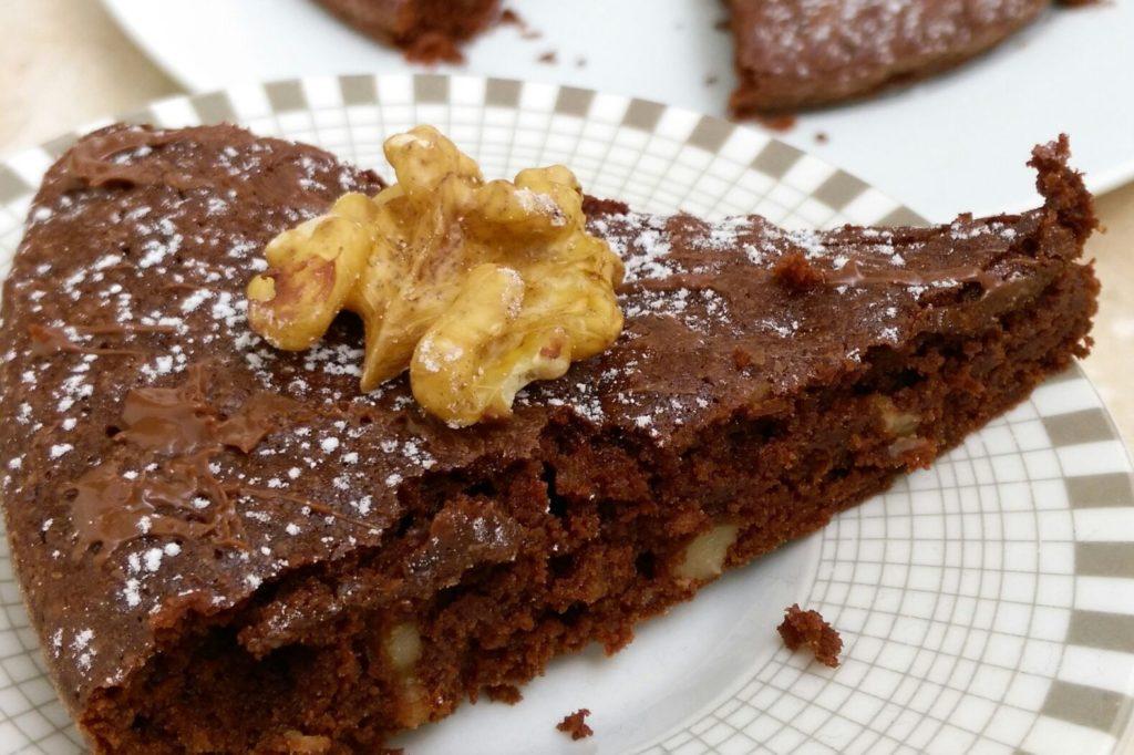 Torta di Noci e Cacao Senza Farina